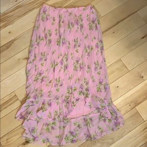 BETSY JOHNSON SMALL HIGH LOW SKIRT